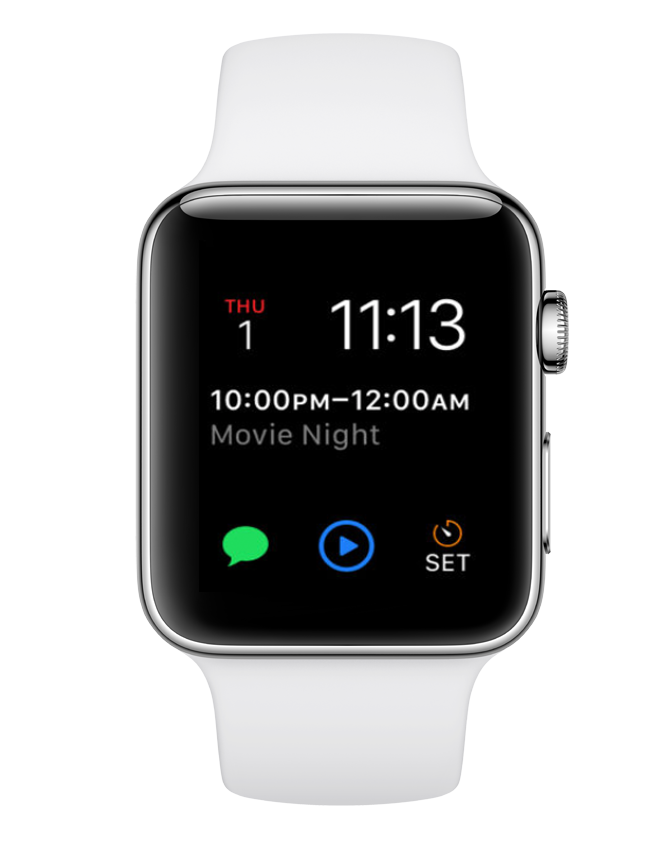 calendar app with watchOS
