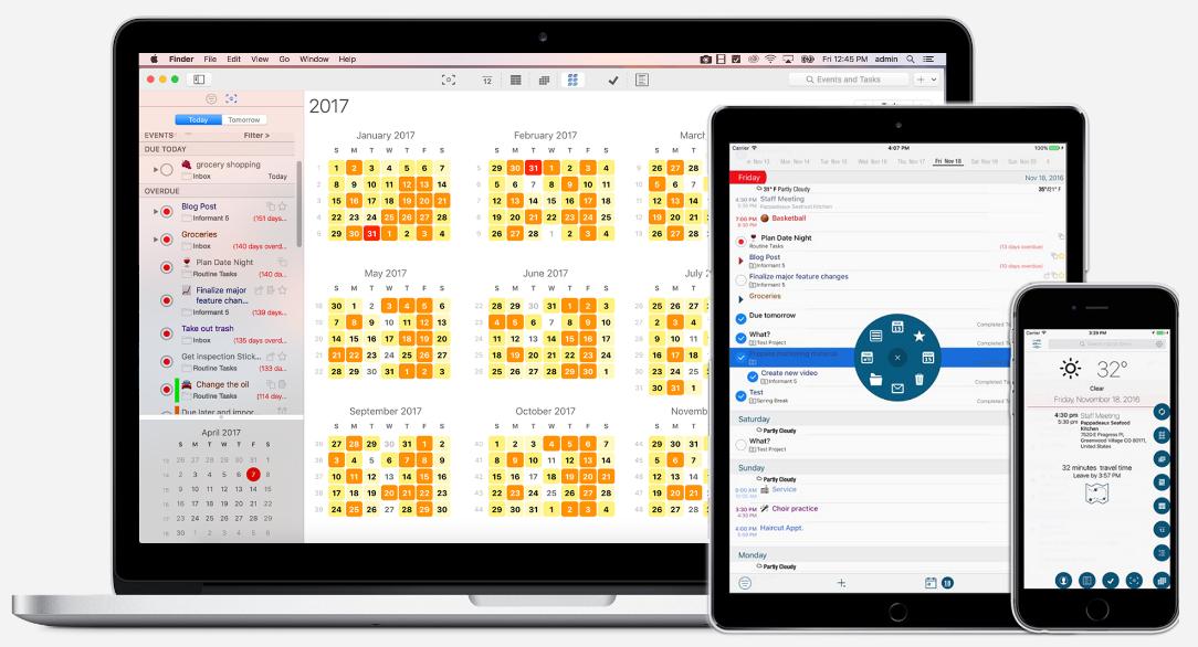 Best Calendar and Task App for Mac iOS iPad iPhone