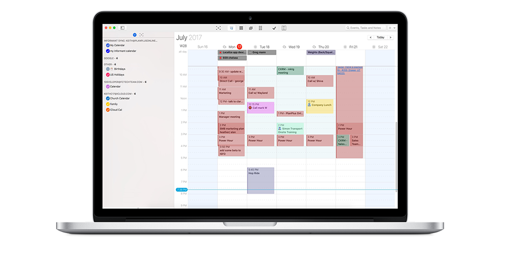 Weekly Calendar App Mac : Best calendar app for mac informant macos