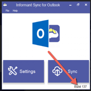 Sync Informant with Outlook