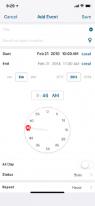 Time Picker: Minutes