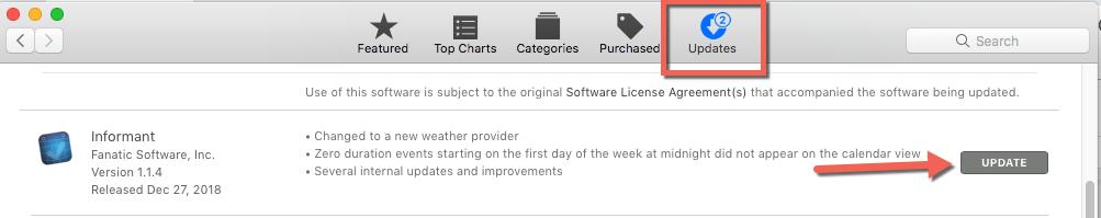 update from mac app store